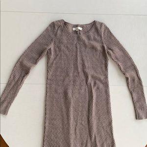 Loft Long Sleeved Sweater Dress - size small